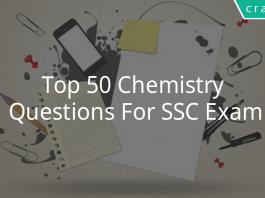 Top 50 Chemistry Questions For SSC Exam