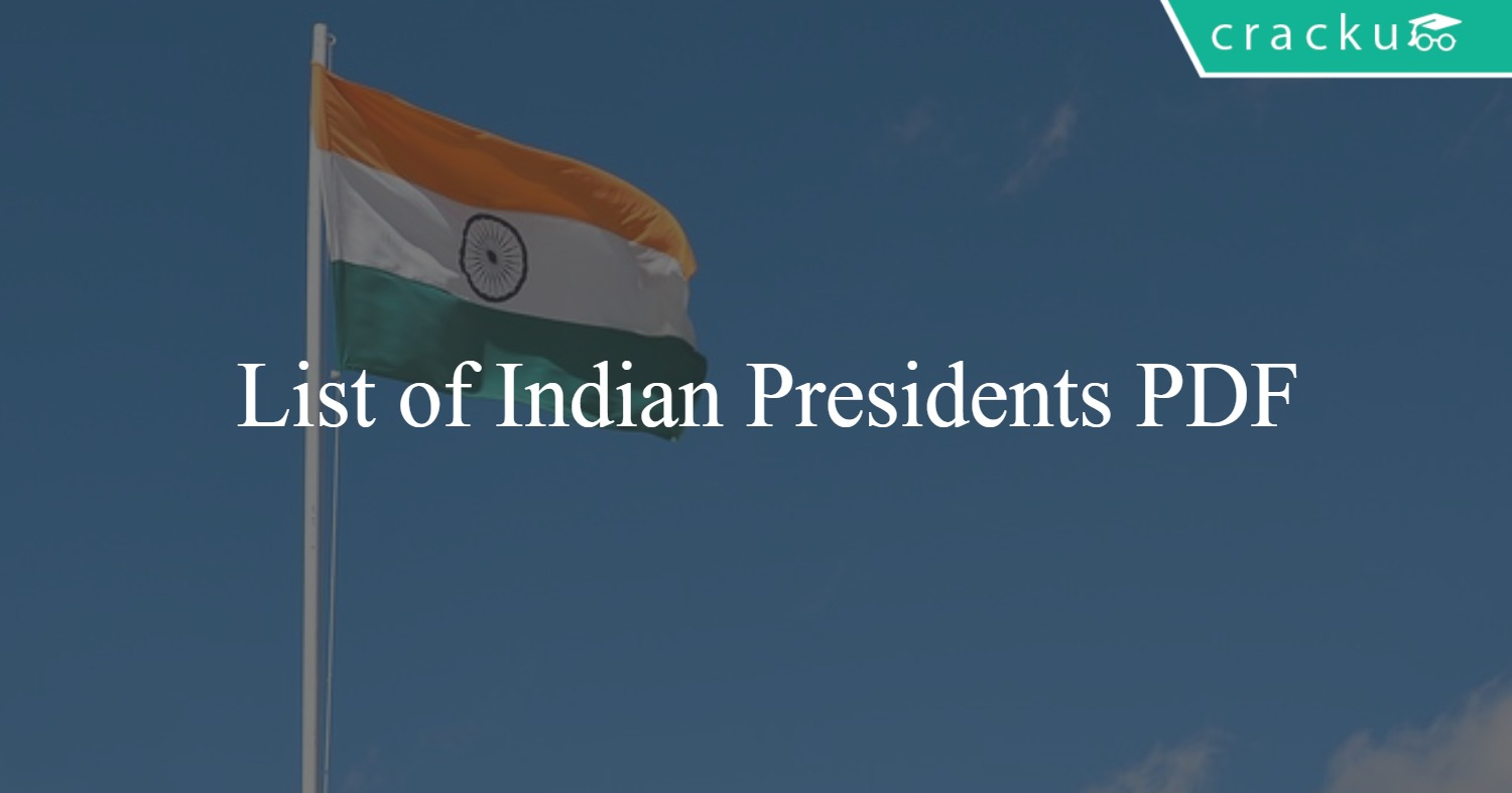 List of indian presidents PDF - Tenures from 1947 to 2019