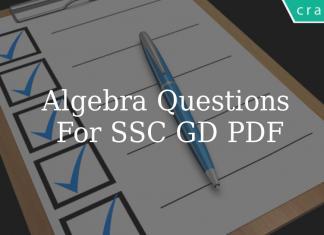 Algebra Questions For SSC GD PDF
