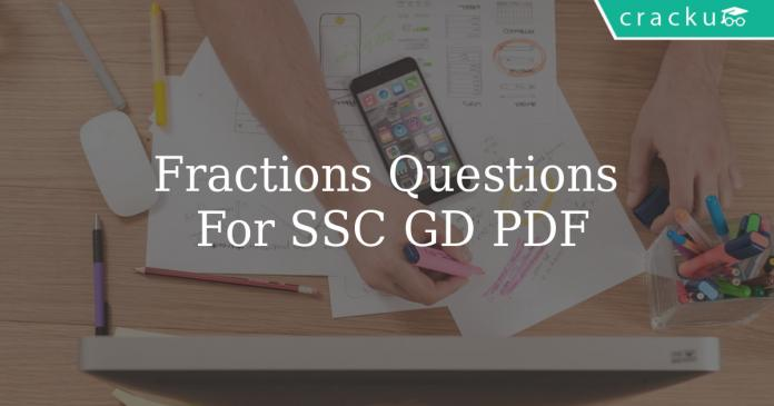 Fractions Questions For SSC GD PDF