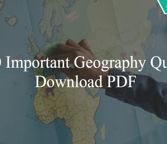 Top 50 Important Geography Questions