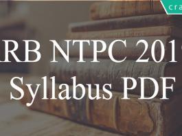 RRB NTPC Syllabus PDF