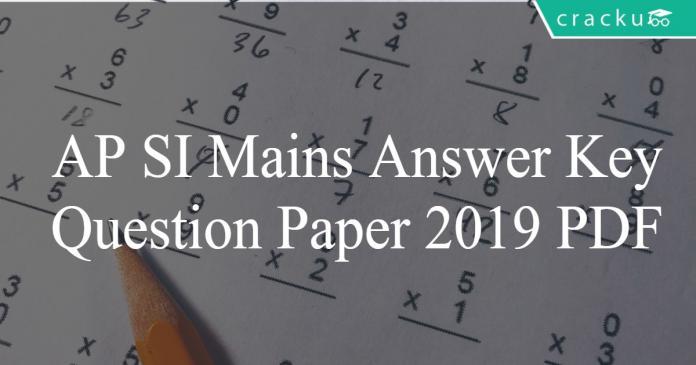 AP SI mains answer key PDF
