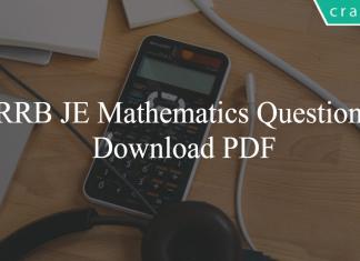 RRB JE Mathematics PDF