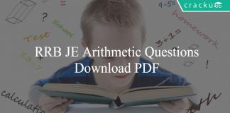 RRB JE Arithmetic Questions PDF