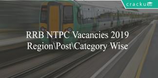RRB NTPC Vacancies 2019