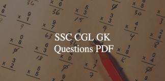 ssc cgl gk questions pdf