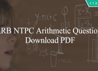 RRB NTPC Arithmetic Questions PDF