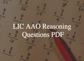 lic aao reasoning questions pdf