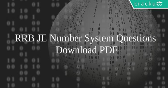 RRB JE Number System Questions Pdf