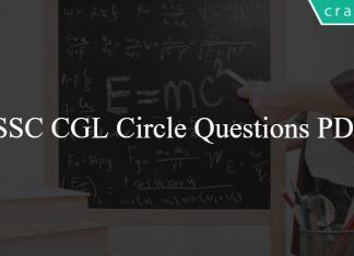 SSC CGL Circle Questions PDF