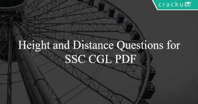 Height and Distance Questions for SSC CGL PDF