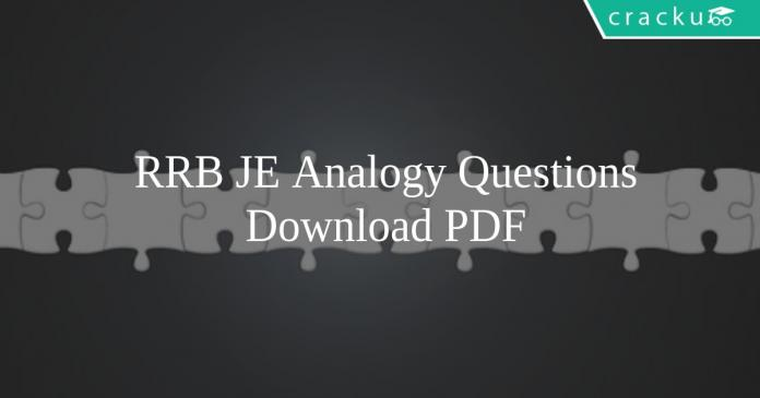 RRB JE Analogy Questions PDF