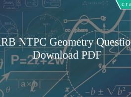 RRB NTPC Geometry Questions PDF