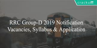 RRC Group-D Notification, Registration and Application