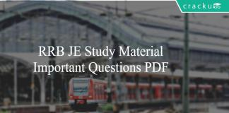 RRB JE Study Material - Important Questions PDF