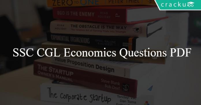 SSC CGL Economics Questions PDF