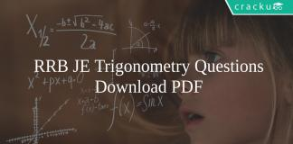 RRB JE Trigonometry Questions PDF