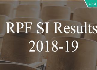 RPF SI results 2018-19