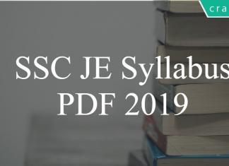 SSC JE 2019 Syllabus PDF