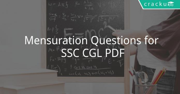Mensuration Questions for SSC CGL PDF
