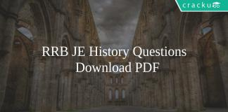 RRB JE History Questions PDF