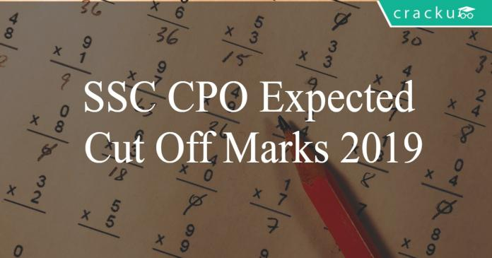 SSC CPO Expected cut off marks