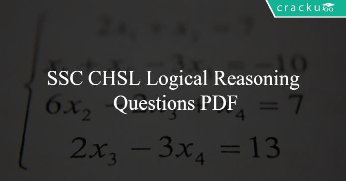 SSC CHSL Logical Reasoning Questions PDF