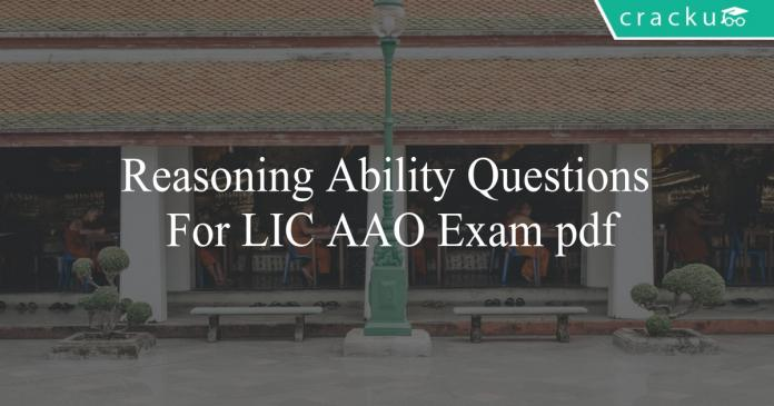 reasoning ability questions for lic aao exam pdf