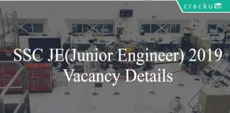 SSC JE vacancy details