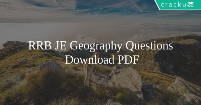 RRB JE Geography Questions PDF
