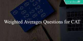 Weighted Averages Questions for CAT