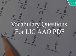 vocabulary questions for lic aao pdf