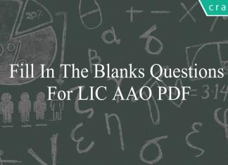 fill in the blanks questions for lic aao pdf