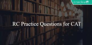 RC Practice Questions for CAT