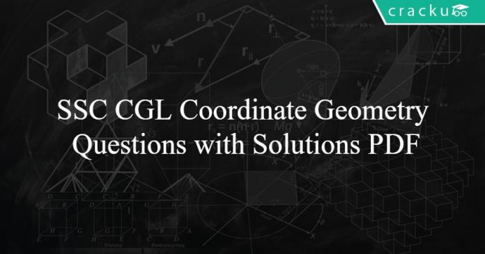 SSC CGL Coordinate Geometry Questions with Solutions PDF
