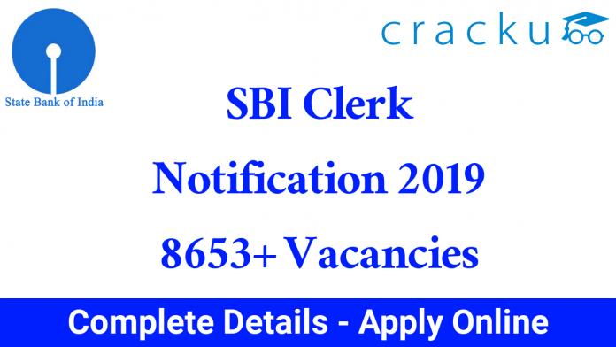 SBI Clerk Notification 2019 PDF
