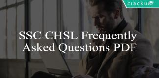 SSC CHSL Frequently Asked Questions PDF
