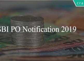 SBI PO Notification 2019