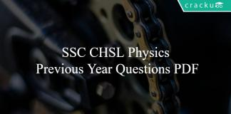 SSC CHSL Physics Previous Year Questions PDF