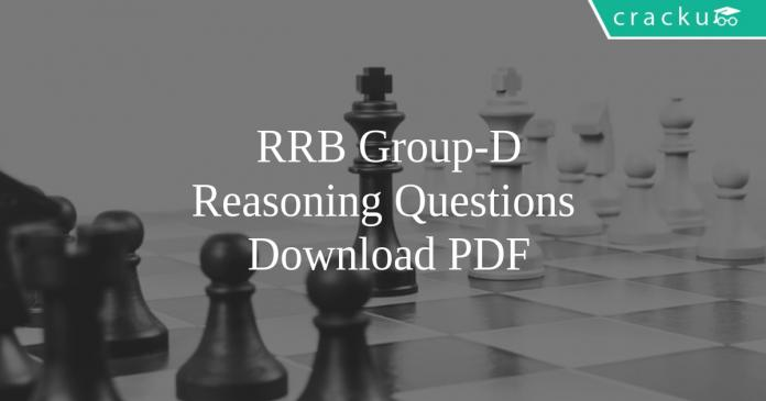 RRB Group-D Reasoning Questions PDF