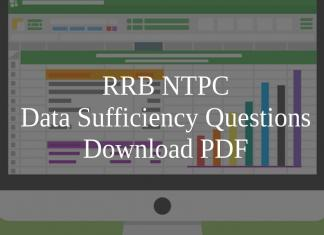 RRB NTPC Data Sufficiency Questions PDF
