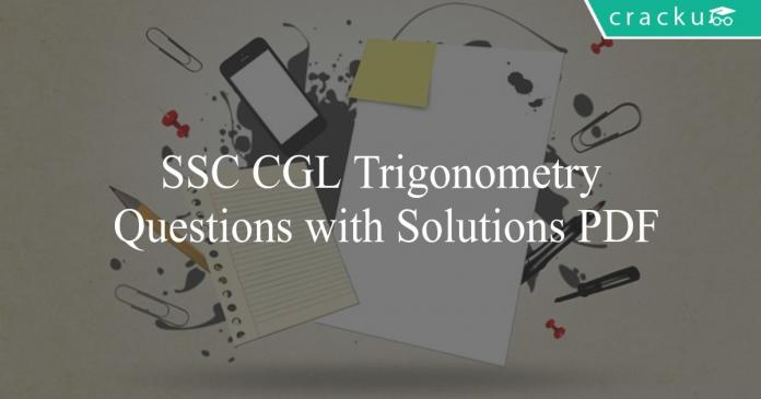 ssc cgl trigonometry questions with solutions pdf