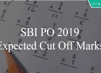 sbi po 2019 cut offs