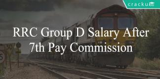 RRC Group D salary after 7th pay