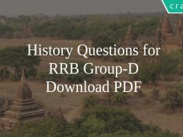 History Questions For RRB Group-D PDF