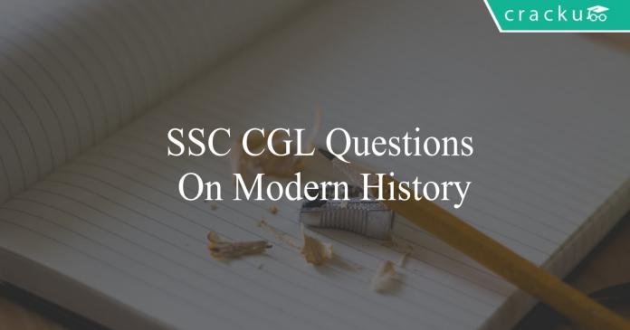 ssc cgl questions on modern history
