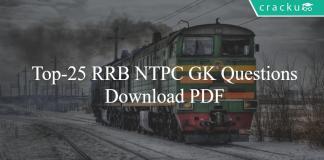 Top-25 RRB NTPC GK Questions Part-1