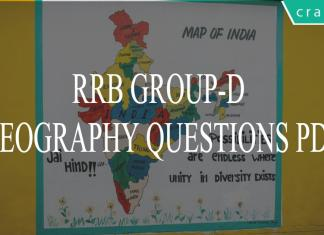 RRB GROUP-D GEOGRAPHY QUESTIONS PDF