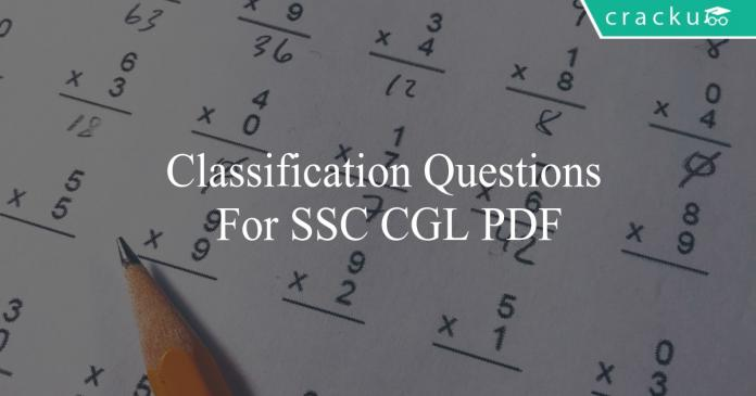 classification questions for ssc cgl pdf